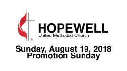 August 19, 2018 – Promotion Sunday