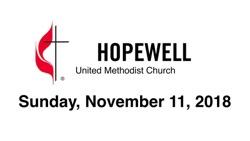 November 11, 2018 – Confirmation Sunday
