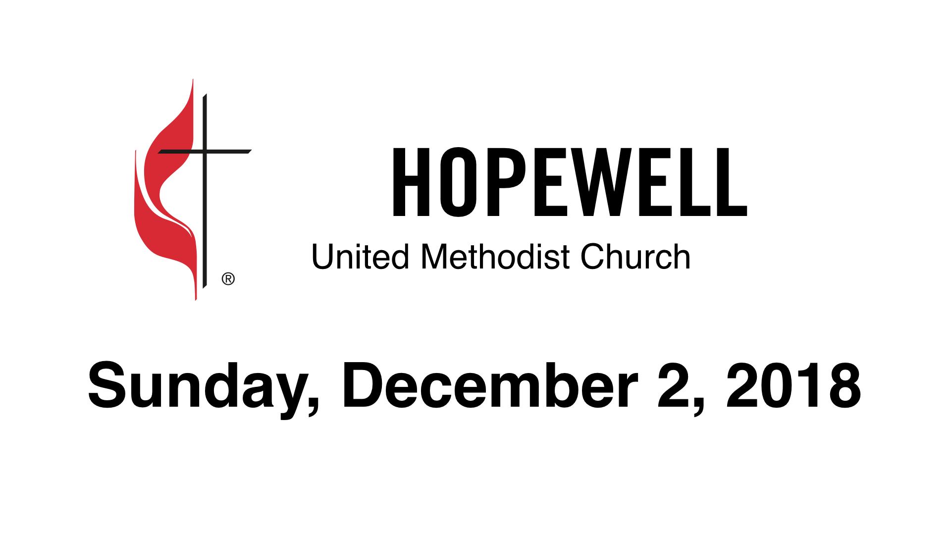 December 02, 2018 – Hopewell UMC