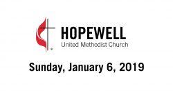 January 6, 2019 – Epiphany Sunday