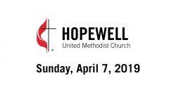 April 07, 2019 – Communion – 5th Sunday of Lent